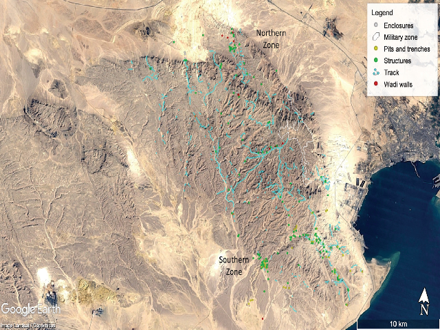 Sites documented by the EAMENA project. Map data: Google, Landsat