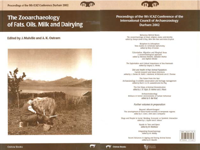 The zooarchaeology of fats, oils, milk and dairying.