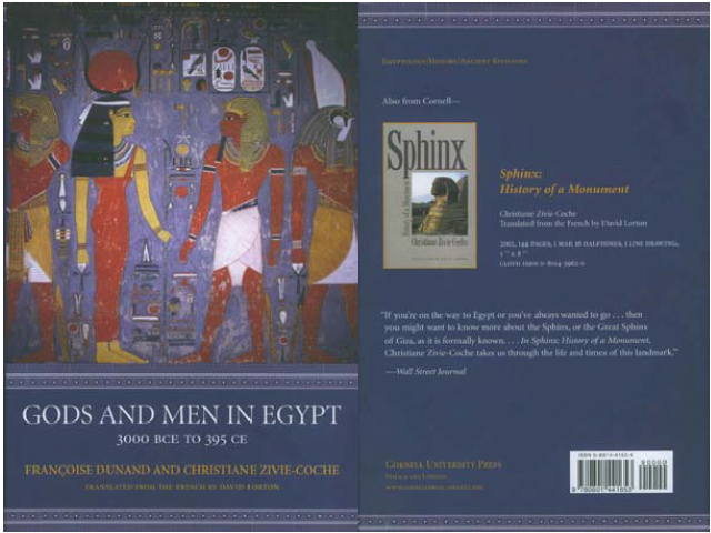 Gods and men in Egypt 3000 BCE to 395 CE